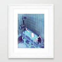 bath Framed Art Prints featuring Bath  by BrimRun
