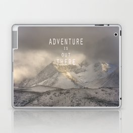 Adventure is out there. At the mountains. Laptop & iPad Skin
