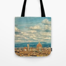 Duomo in Florence Skyline Tote Bag