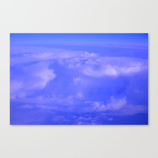 Aerial Blue Hues IV Canvas Print