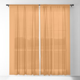 Halloween Party / Orange (Mix & Match Set) Sheer Curtain