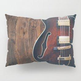 Guitar on Wood Pillow Sham