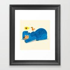 The Bear and The Bird Framed Art Print