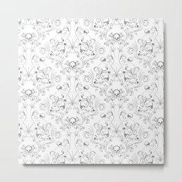 Skull Garden Demask Metal Print