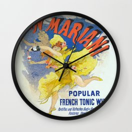 Vintage poster - French Wine Wall Clock