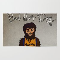 teen wolf Area & Throw Rugs featuring bad hair day no:2 / Teen Wolf by niles yosira