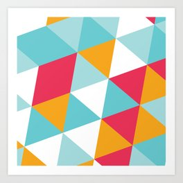 Tropical Triangles Art Print
