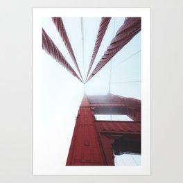 Golden Gate Bridge fogged up - San Francisco, CA Art Print