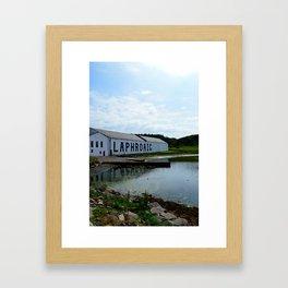 The Laphroaig Distillery in Islay Framed Art Print