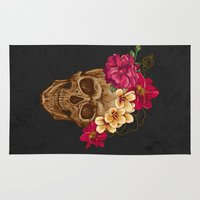 animal skull Area & Throw Rugs featuring Skull by eARTh