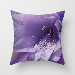 Cactus Orchid Indigo Touch Throw Pillow
