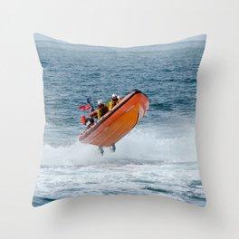 Lifeboat jump Throw Pillow