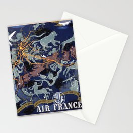1939 Air France Celestial Poster Stationery Cards