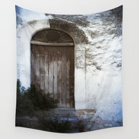 door Wall Tapestries featuring Italian Door by Maria Heyens
