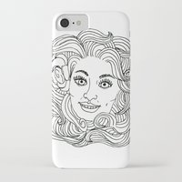 dolly parton iPhone & iPod Cases featuring Queen Dolly by Slumber Party Death Match
