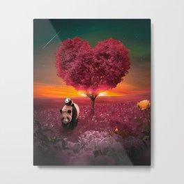 Lovely Panda Metal Print
