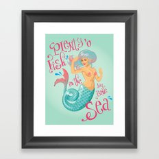 Plenty 'o fish Framed Art Print