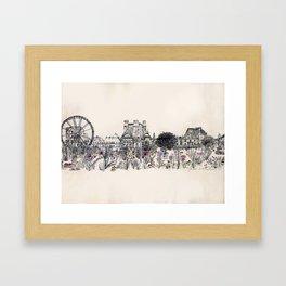 Jardins des Tuileries Framed Art Print