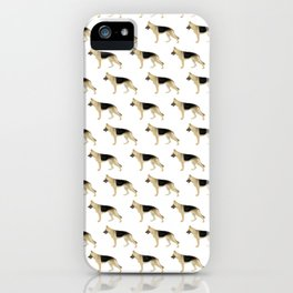 German Shepherd: Faded Black & Tan iPhone Case