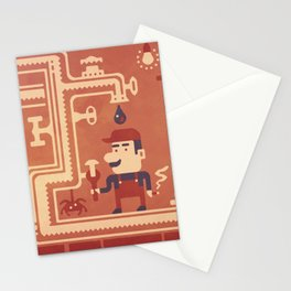 Mario at work Stationery Cards