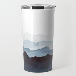 Indigo Mountains Landscape Travel Mug