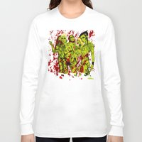 zombies Long Sleeve T-shirts featuring SEXY ZOMBIES by Thomas B.- Rock Artwork