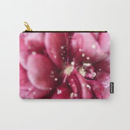 Wine red Alcea rosea 1 Carry-All Pouch