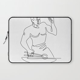 Blacksmith Hammer Continuous Line Laptop Sleeve
