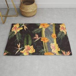 Hawaiian Hibiscus Aloha Shirt Print Rug