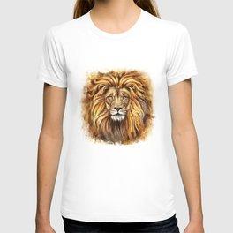 Artistic Lion Face T-shirt