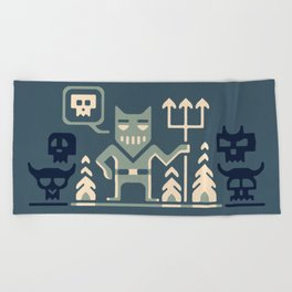 Skull collector Beach Towel