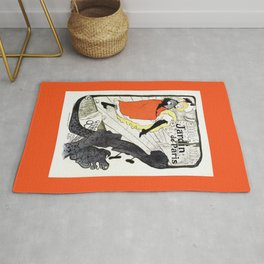 Jane Avril French can-can Jardin de Paris Rug