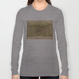 Vintage Pictorial Map of Los Angeles (1909) Long Sleeve T-shirt