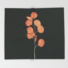 Black Pages Throw Blanket