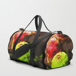 Lime Pepper Apple Red Duffle Bag