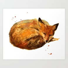 Fox painting, fox print Art Print