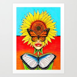 Sunflower Side Up Art Print