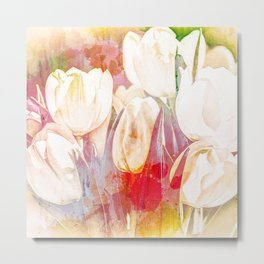 Tulip Fever Abstract Art Metal Print