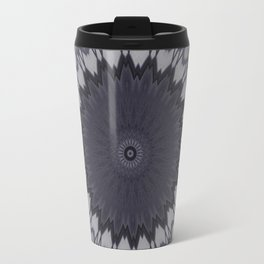 Decorative Purple White Mandala Travel Mug