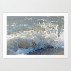 Sandy Saltwash at Sun Up Art Print