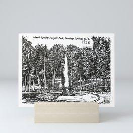 """Island Spouter"" Saratoga Spa State Park Geyser Mini Art Print"