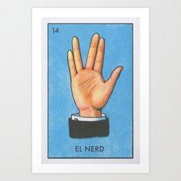 El Nerd Art Print