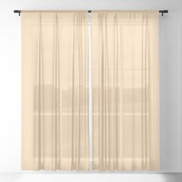 Spring - Pastel - Easter Peach Solid Color Sheer Curtain