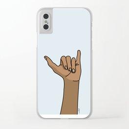 Shaka Shaka Clear iPhone Case