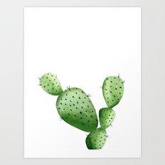 Cactus. Watercolor plant. Art Print