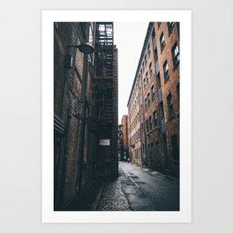 Urban grit, Manchester. Art Print