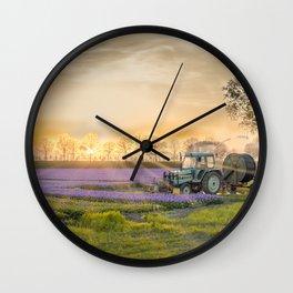 Dutch farmland Wall Clock