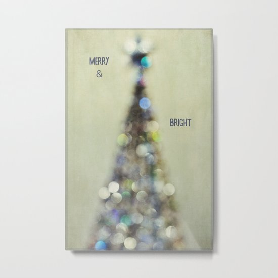 merry and bright 2 Metal Print