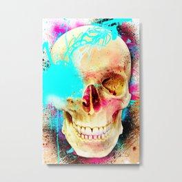 S K U L L F * C K  Metal Print