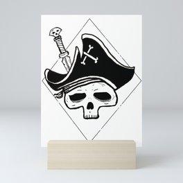 Undead Pirate, pirate skull Mini Art Print